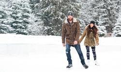 Eislaufen Winterurlaub Bayern