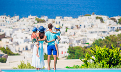 Griechenland Korfu Aublick