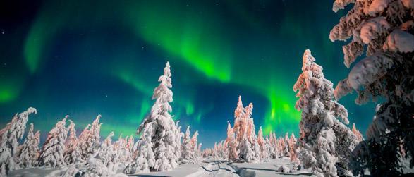 Lappland Schweden Nordlichter