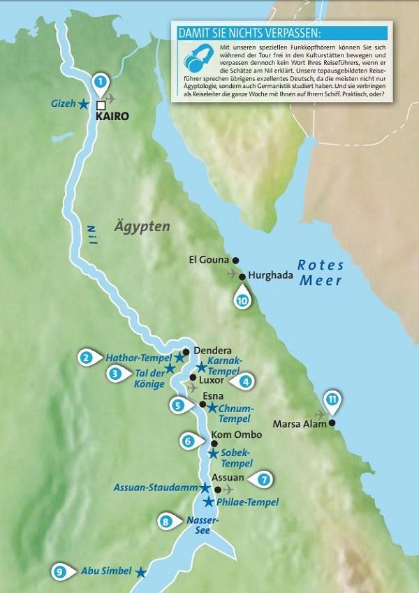 Nilkreuzfahrt Sehenswürdigkeiten